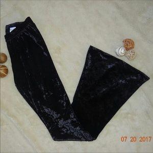 Xhilaration black velvet bell bottoms brand new